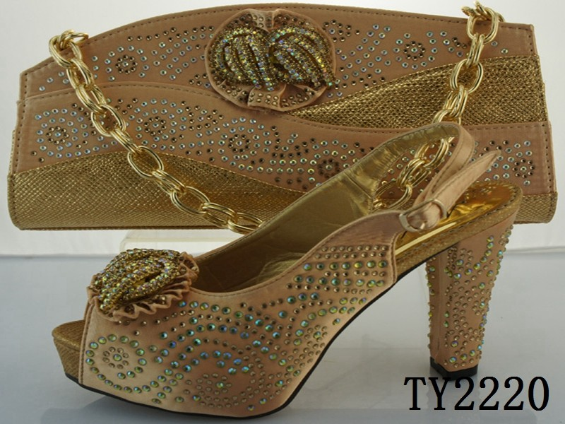 Best Selling Wedding Shoes And Bag Set Silver Color African Shoes