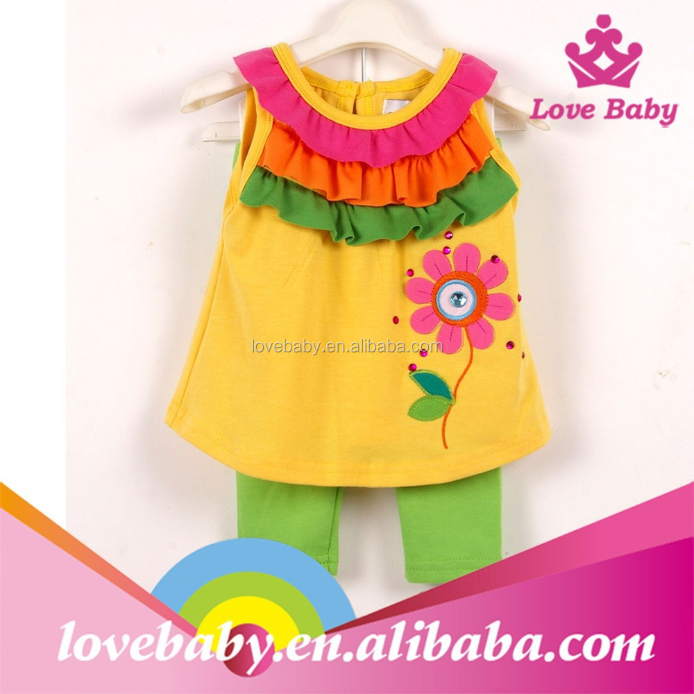 Toddler summer boutique flower baby wear branded kids clothes LBE4092565