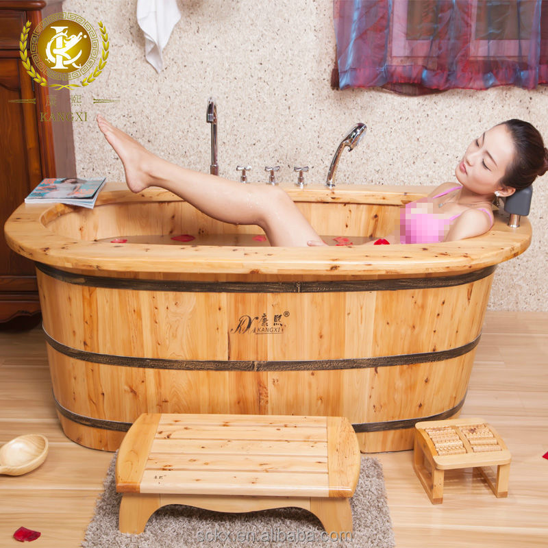 Kx Wholesale Wood Sit Bath Tub,Heated Bathtub - Buy Heated Bathtub ...