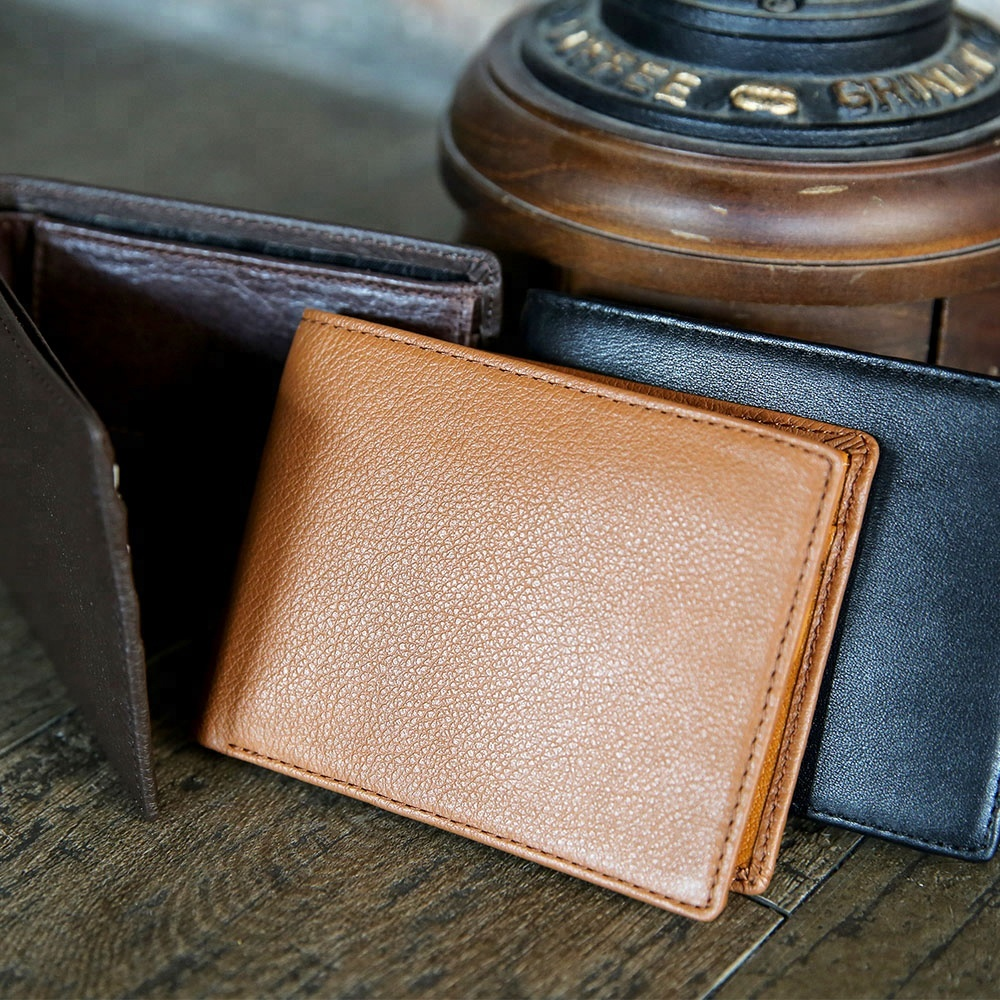 Wholesale Handmade Genuine Leather Men Bifold Slim <strong>Wallet</strong>