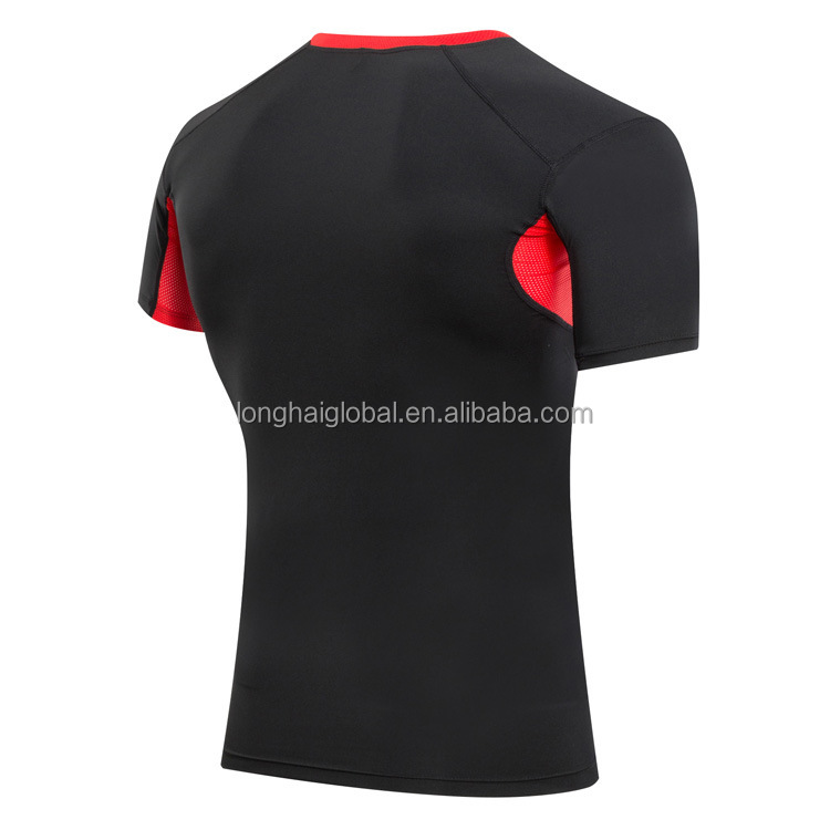 Wholesale Sport shirts for Mens Fitness GYM Running Yoga t shirt