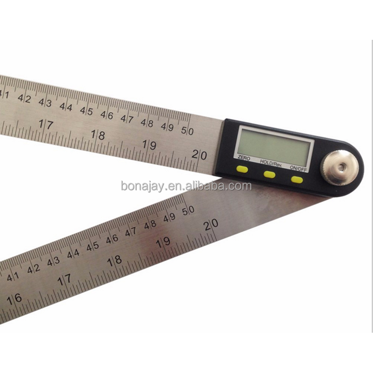 200/300/500mm stainless steel protractor digital angle finder meter digital goniometer angle ruler electronic protractor
