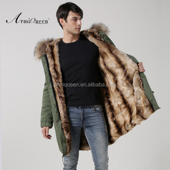 748dce87b448 2017 Mility Style Jacket Mens Fashion Fur Wear