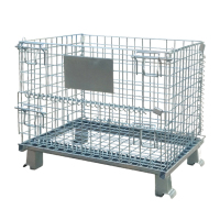 Stainless steel metal storage cages with doors , security cages on wheels