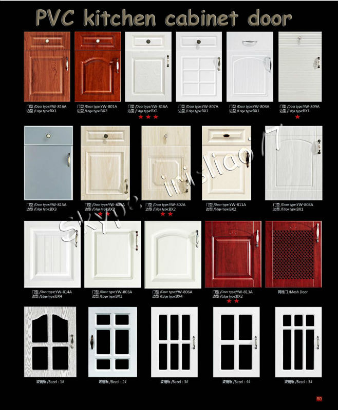 Kitchen Cabinet Doors Prices: Solid Wood White Pvc Frame Laminate Kitchen Cabinet Door