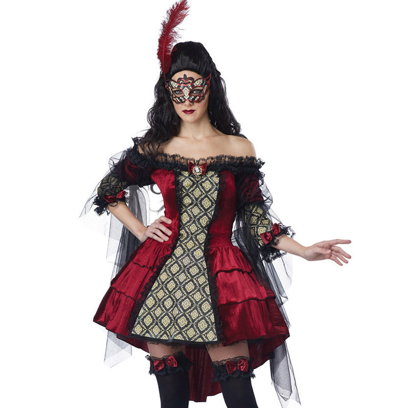 European and American Halloween Costumes For Women Evil Sexy Cosplay Costumes Masquerade Party Game Wonder woman costume