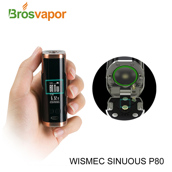 0.96 inch screen 80W WISMEC SINUOUS P80 Full Kit , SINUOUS P80 with Elabo Mini