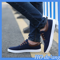 2018 new canvas shoes men's casual shoes breathable shoe