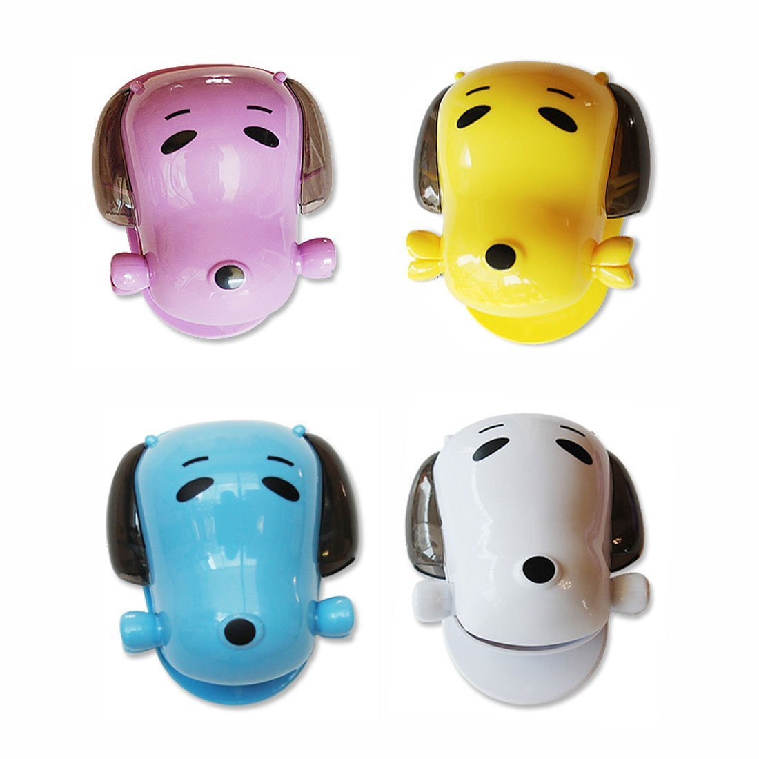 Toothbrush Holder Mini Dog Toothpaste Holder Toothpaste Dispenser (4 colors random)