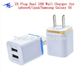 For Ipad Iphone 5V 2.1A Dual Usb Wall Charger With Us Plug