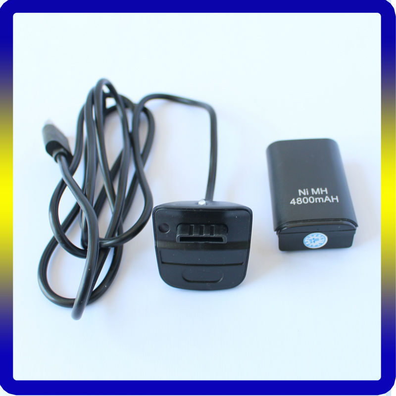 For Xbox 360 Rechargeable Battery & Charging Station Black