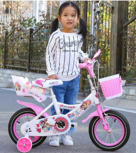 "12"" Bike for Kids Cheap Kids Bicycles with Doll Seat Xingtai children bicycle classic model"