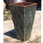 outer door large square ceramic plant pots