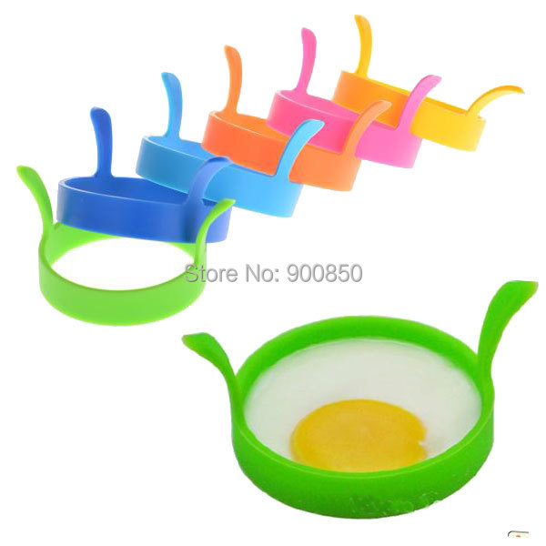 Breakfast Round Silicone Egg Mold Rings Fried Egg Mold Mould Poach Oven Pancake Egg Ring Shaper Home Kitchen Cooking Tools
