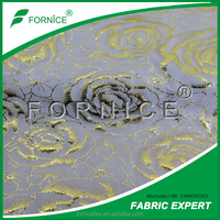 Huzhou fornice supply golden 100% Polyester Suede Fabric/weft knitted suede/garment upholystery suede