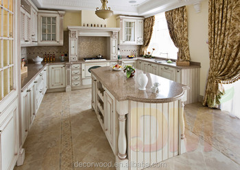 Stile Francese Smaltato Bianco Mobili Da Cucina Su Misura E Armadio ...