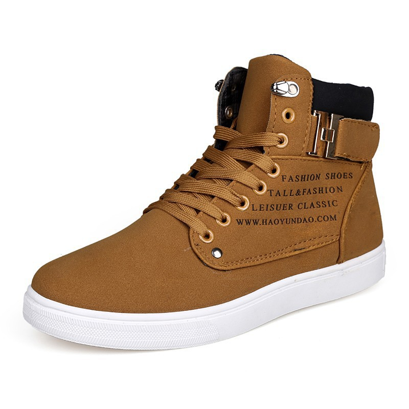 2015 Hot Men Shoes Sapatos Tenis Masculino Man Sneakers Fashion Leather Shoe For Men High Top Shoes  Canvas Sneakers espadrilles