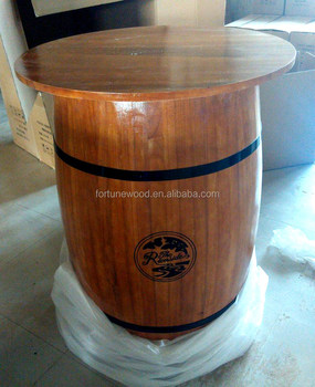 Custom Logo Wooden Bar Table Wine Barrel Furniture Buy Wine Barrel