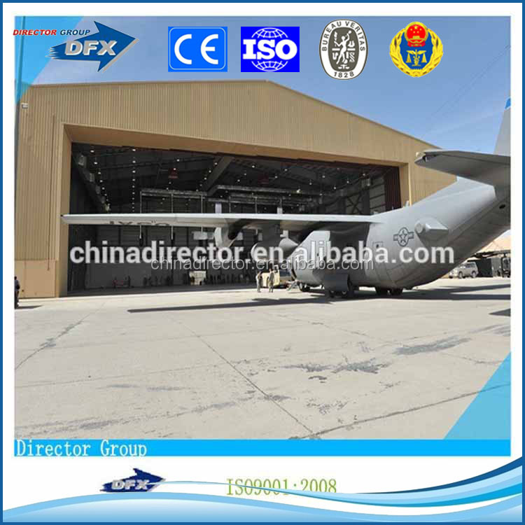 cheap light frame steel structure prefabricated hangar for sale