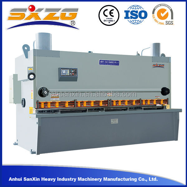 QC11Y 6mm 4000 manual sheet metal cutting machine new business project machinery
