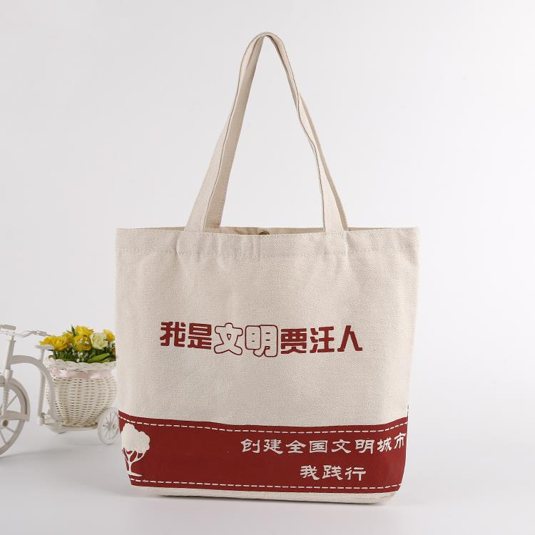 new style shopping canvas tote bags printed cotton monk bag