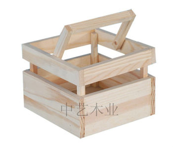 Handmade Wooden Gift Basket