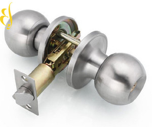Factory Price Hot Sale Door Lock Satin Brass Interior Indoor Entry Bedroom  Bed Bath Shower Room Manual Door Round Knob Lock