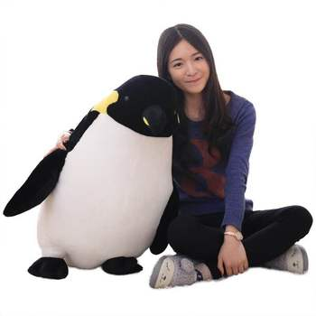 Life like Penguin Plush Toy with Beautiful Marking and Realistic Details Quality Stuffed Animal Gift for Kids or Room Decor