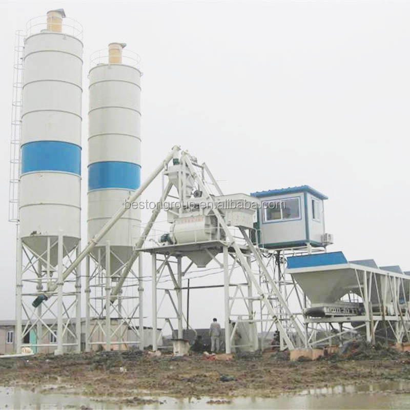 Small Cement Plant : Stationary mobile optional small concrete batching plant