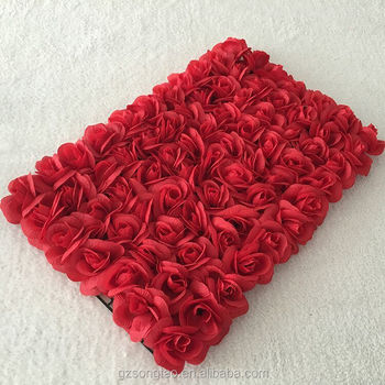 2019 Artificial Handmade Cloth Flower Wall In Weeding Or Stage For
