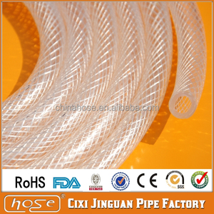 "Export America DOP-Free PVC Plastic Beer Hose Tube ROHS FDA Approved Food Grade Flexible Braided 19mm 3/4"" Clear PVC Water Hose"