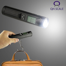 multi function digital travel luggage weighing scale for suitcase with LED flashlight torch 50kg 110lb