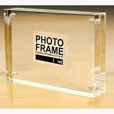 "Combination of Life Clear Acrylic Magnetic Photo Picture Frame (5""X7"" or custom)"