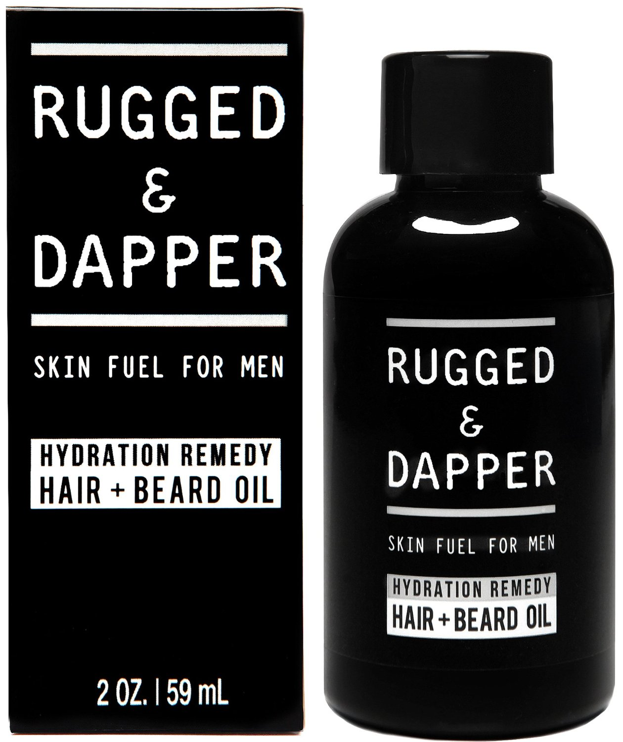 RUGGED & DAPPER – Beard Oil for Men – Organic & Natural Beard Treatment for Mustaches, Beards & Hair – a Barber-Quality Blend of Essential Oils with a Masculine Scent – For all Beard & Hair Types