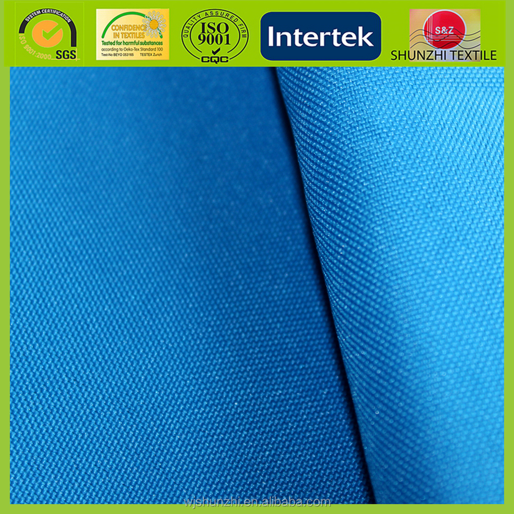 new Sample offer 420D Blue 100% Polyester Tecido Oxford Fabric For Backpacks