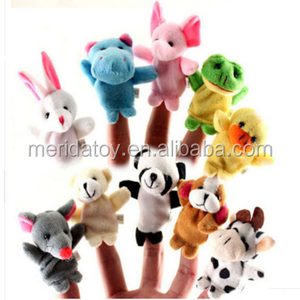 animal shape mini plush finger puppets toys for baby