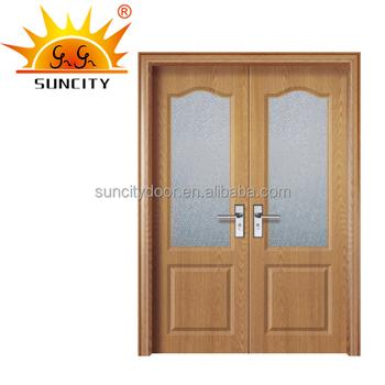 Double Glazing Exterior Glass Door Bathroom Pvc Kerala Door Prices