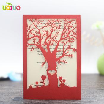 Popula paper folding tree design die cut greeting card red and other popula paper folding tree design die cut greeting card red and other colors wholesale price wedding m4hsunfo