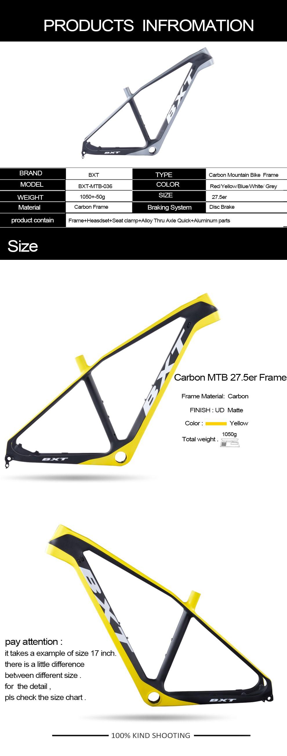 2017 Nuevo Modelo Mtb Carbono Mtb Marco 650b 15.5/17/18.5/20,27.5 ...