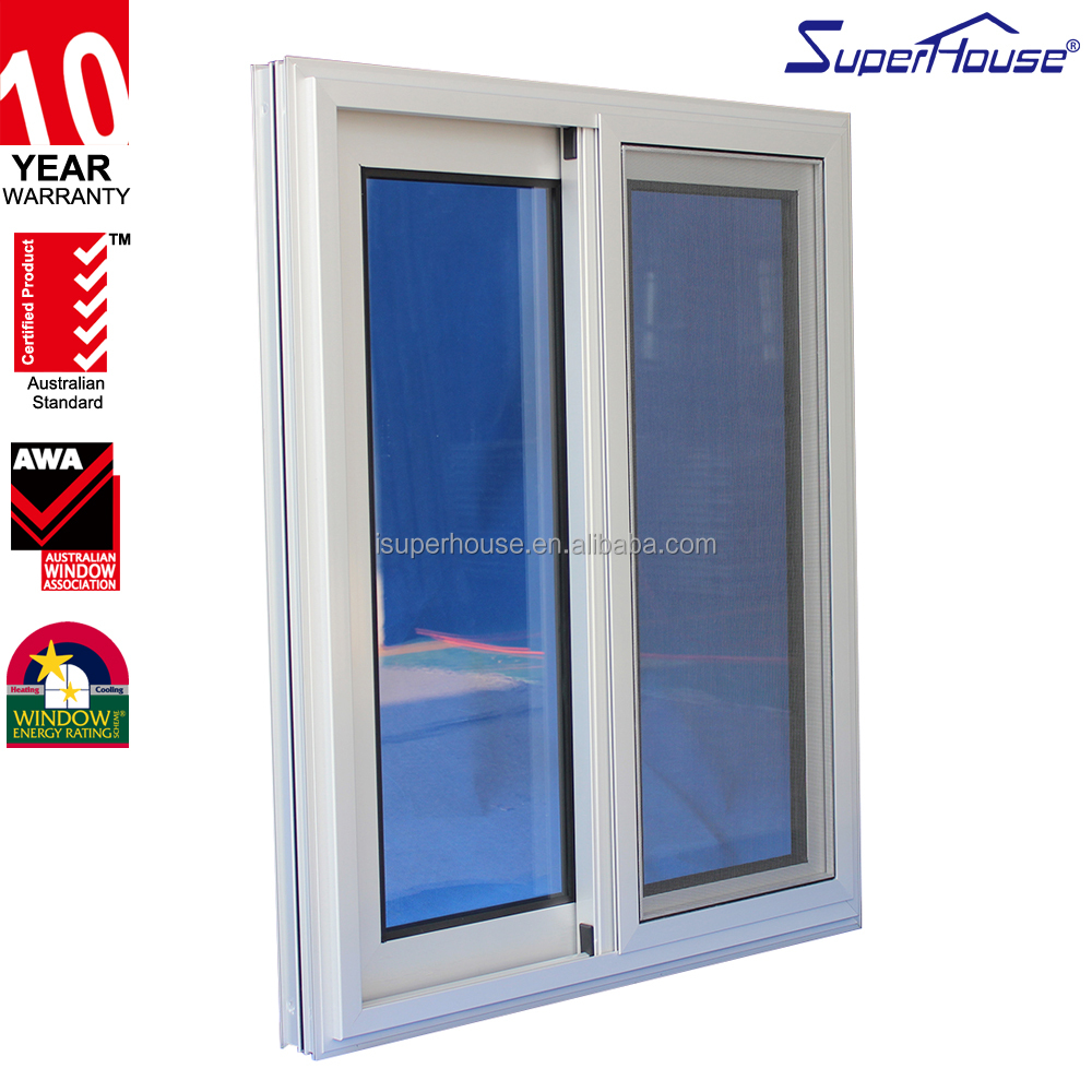 Superhouse AS2047 certificate sliding window two track aluminum sliding window