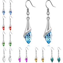2015 Luxury Brand Jewelry Fashion Statement Crystal Earrings For Woman Rhinestone Water Drop Elegant Charm Earring Brincos