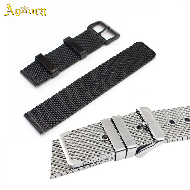 Stainless steel wristwatch watch band for Apple