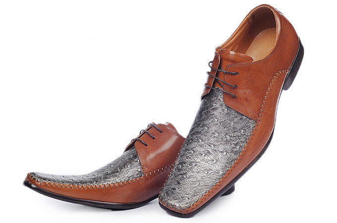 Special Design For Men Formal Shoes Best Selling Brown Oxford Shoes Italian Brand Lace-up Dress Shoes