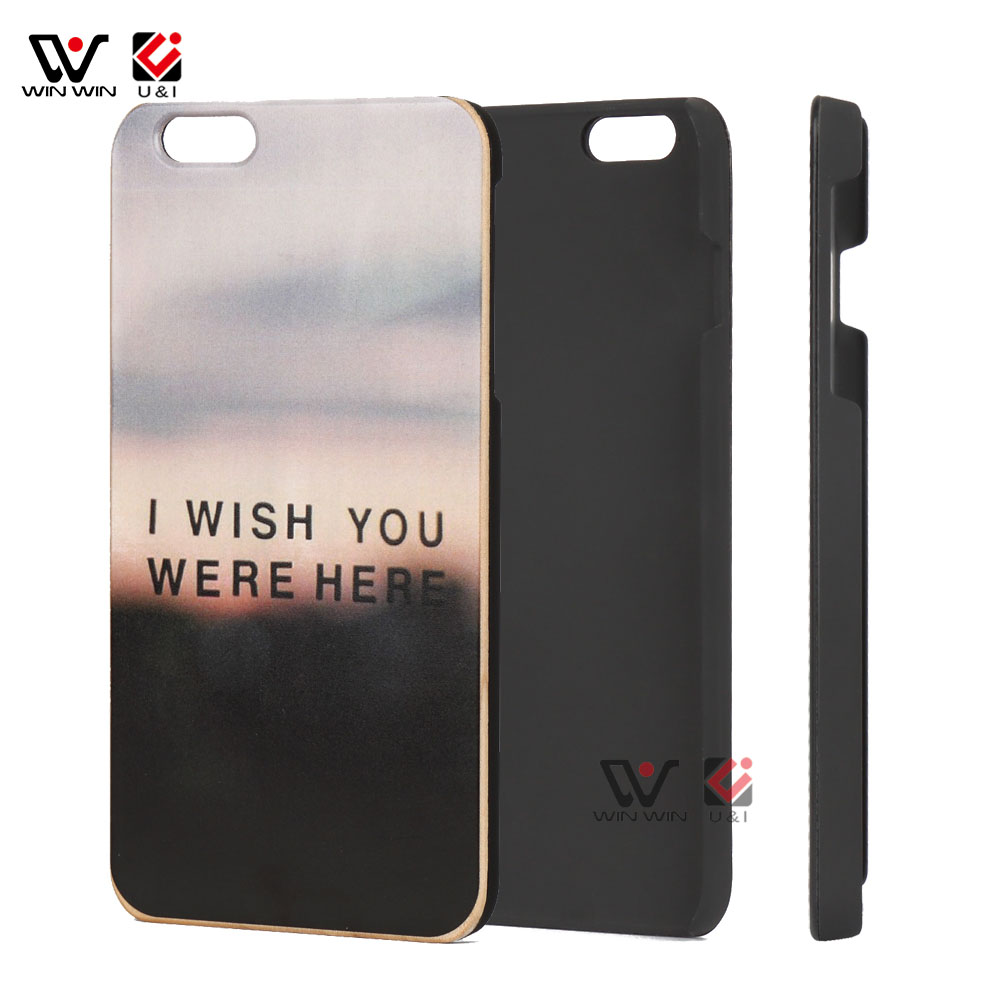 Cheap Price Hybrid PC Frame  Custom Print Wood Mobile Phone  Casing for iPhone 7