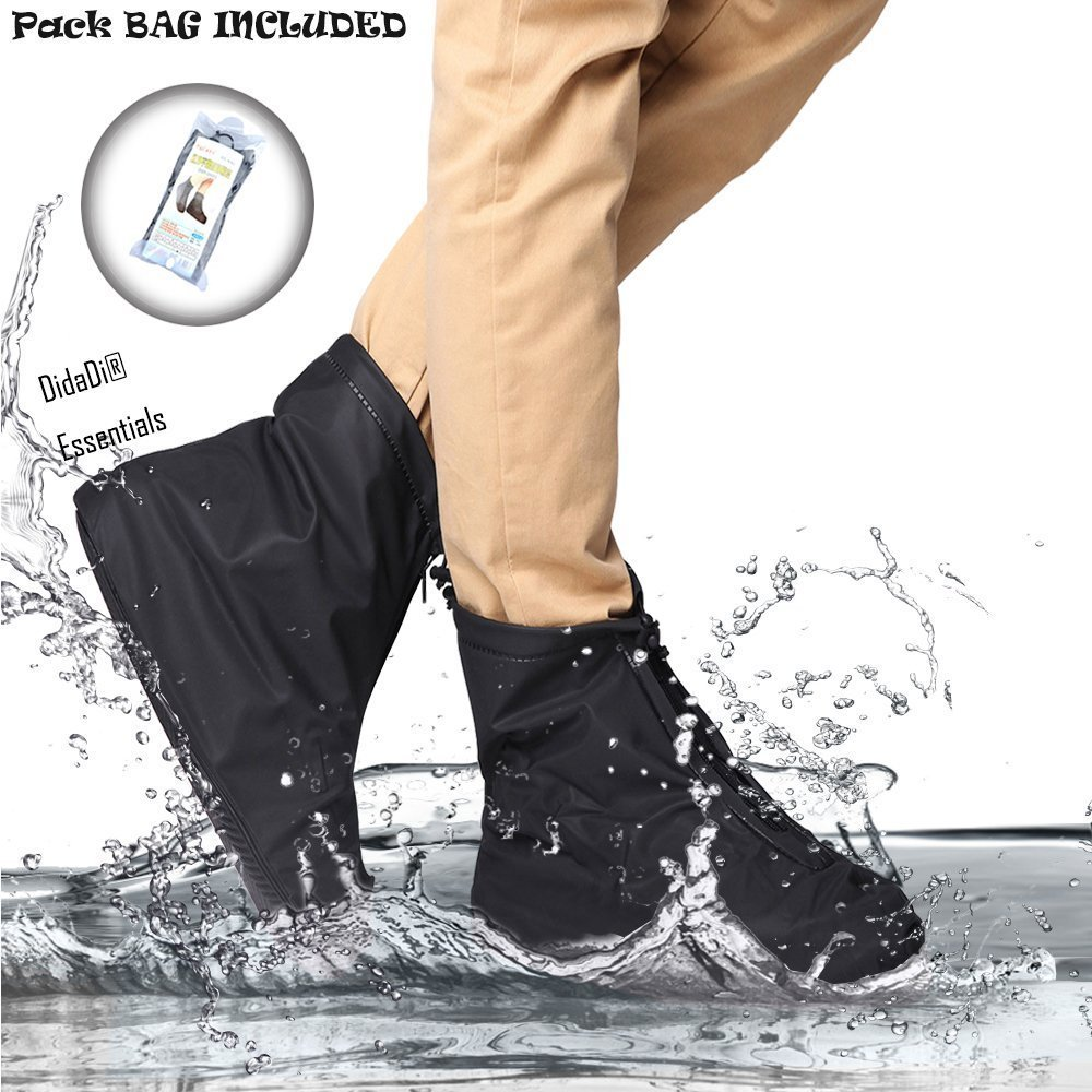 Didadi Reusable Washable Clean Shoe Cover Anti Slip Snow Dust Oil Rain [Heavy Duty] Waterproof. Applicable for Travel Walking Running Activities. [Unisex] Size: XL(Women: 8-9'' Men: 7-8'')