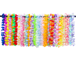 36pcs Handmade Hawaiian Leis Set Flower Beach Wreath Fabric Leis Set