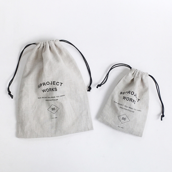 6oz soft Calico muslin Cotton Cloth Drawstring Bag with custom logo