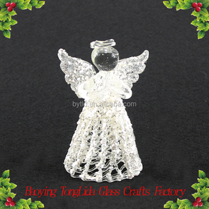 Hand blown little glass Wire drawing angel wholesale