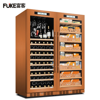 E Cigar Cabinet Led Light Humidor Wine Display Large Spanish Cedar Wood Cooler
