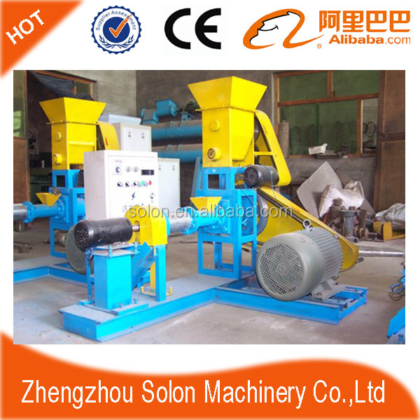 High efficiency floating fish feed extruder machine/shrimp meal extruding machine/pet feed machine